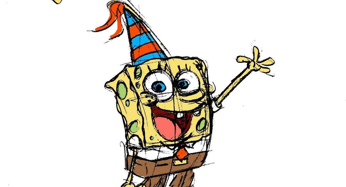 Spongebob Squarepants Birthday Cake Toppers