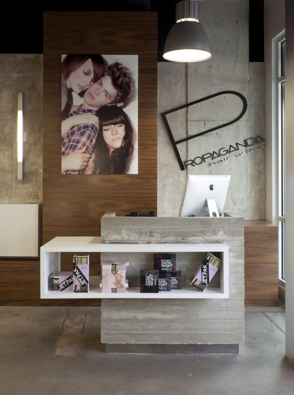 Um moderno sal o de beleza no texas design innova - Peluquerias decoradas por ikea ...