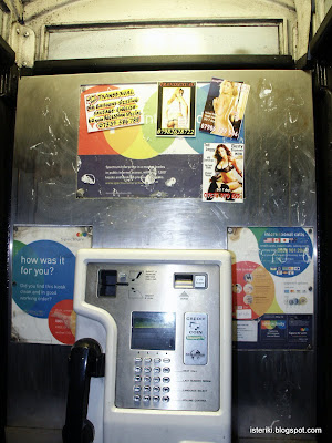 Phone booth. Transsexual. Big balloons - sizzling sausage - English. 60 quid recession special