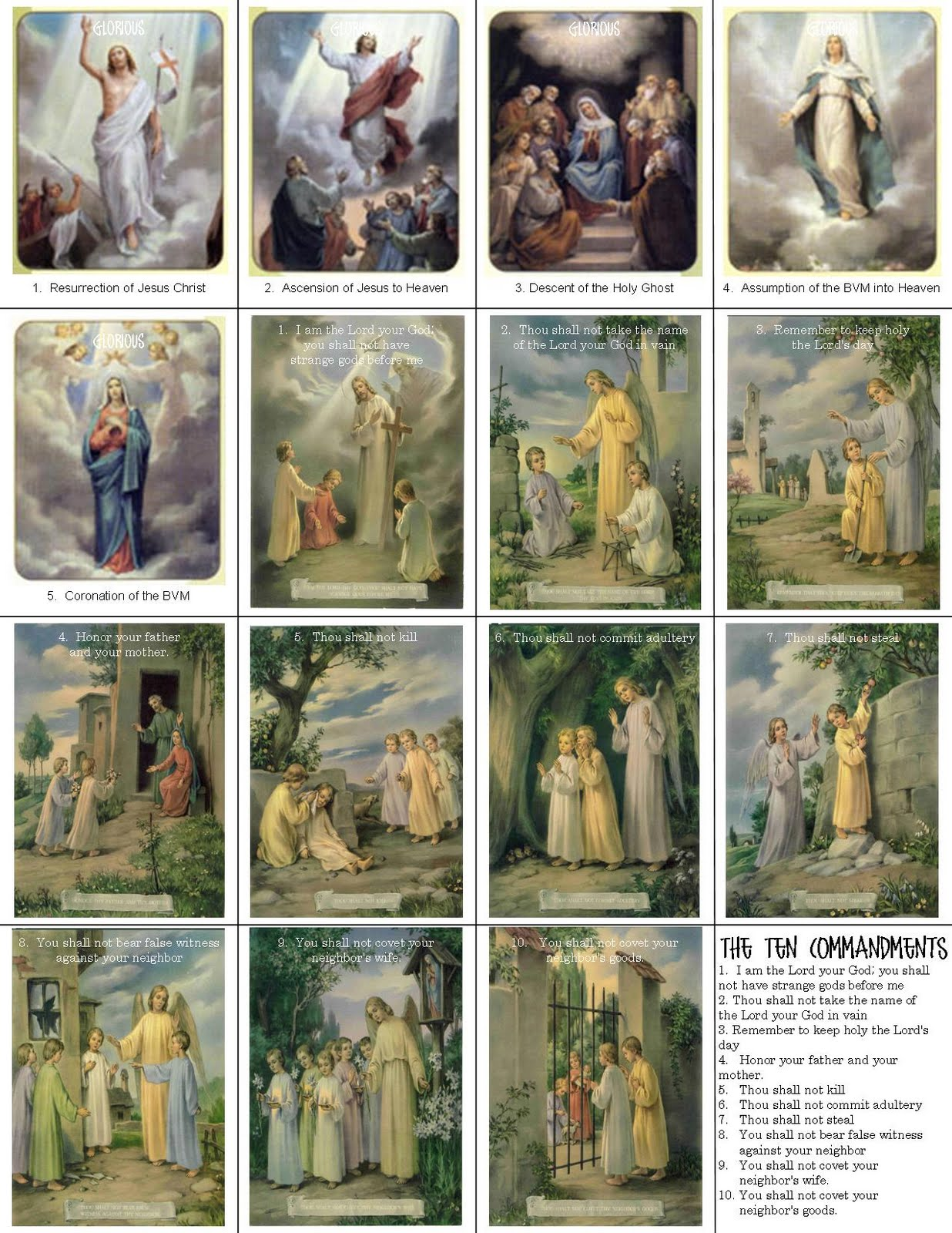 Search Results For Ten Commandments Printable Calendar