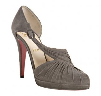 4a8cda05d9ca ... christian louboutin pointed-toe pumps Grey suede buckle closure ...