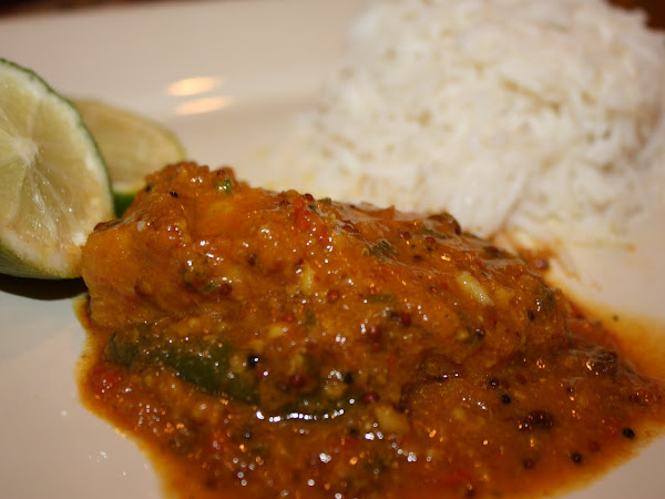 Authentic Indian Fish Curry with Coconut Rice