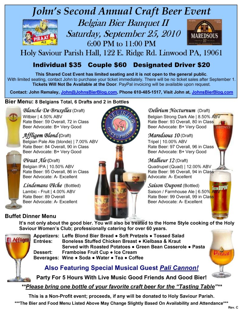 John's Bier Blog: John's Second Annual Craft Beer Event