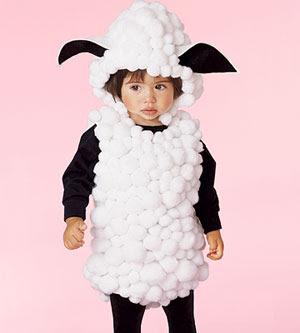 Disfraz de ovejita para niños