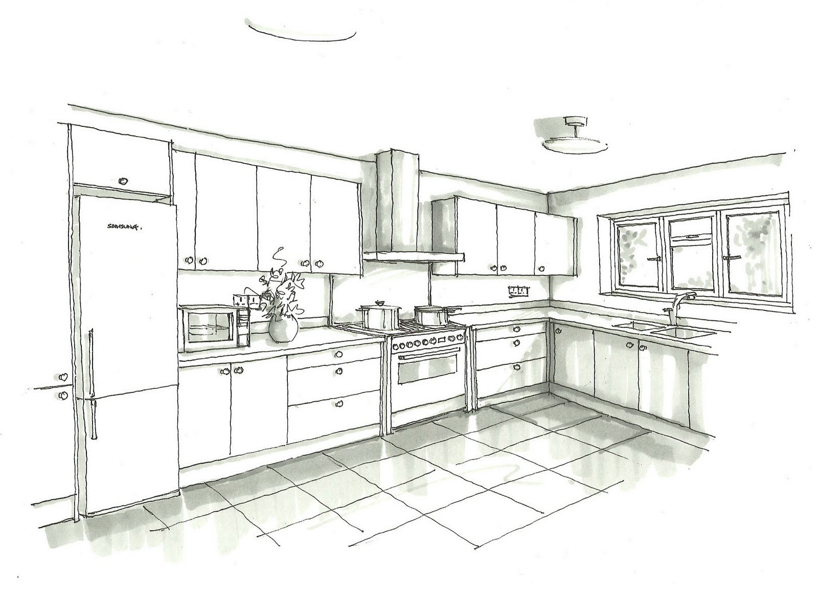 kitchen design sketch gooseny installation 583
