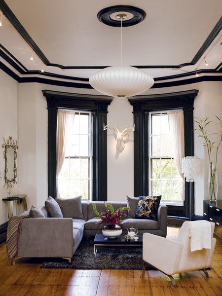 Source - Black house white trim ...