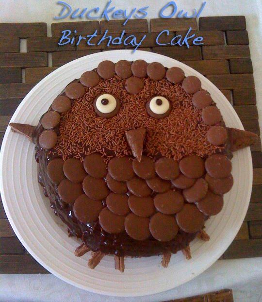 Duckeys Health Corner Duckeys Chocolate Owl Birthday Cake
