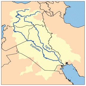 where does the tigris and euphrates rivers meet