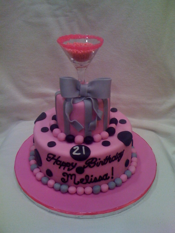 Th Birthday Cakes Cocktail Glass