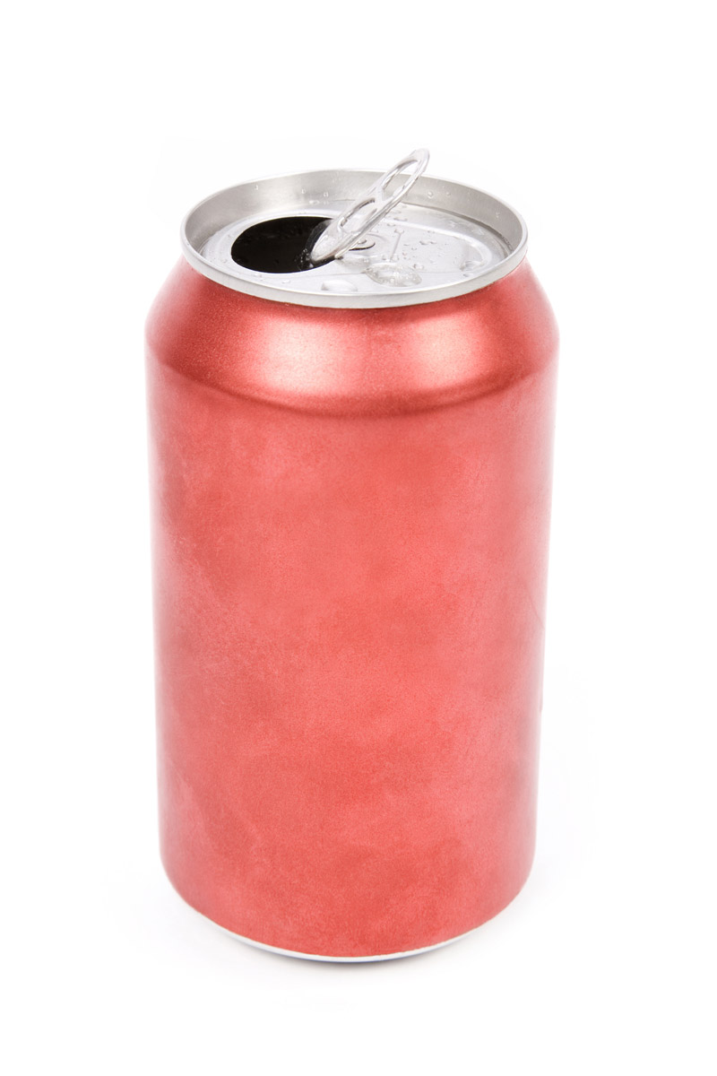 Drink Can From Blank Aluminum Stock Photo