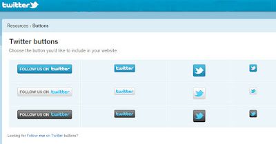 Twitter Button on site