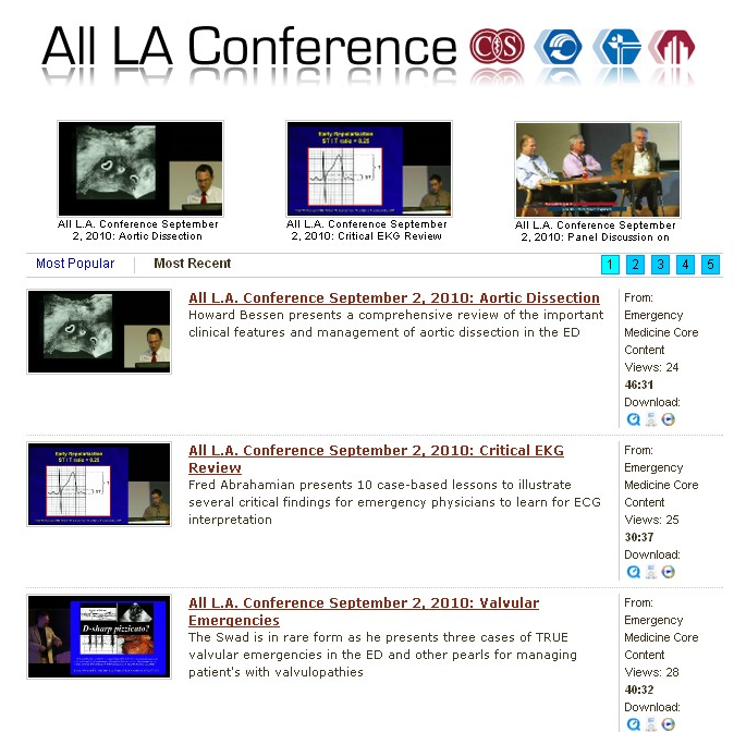 All L.A. conference has it's videos online for free