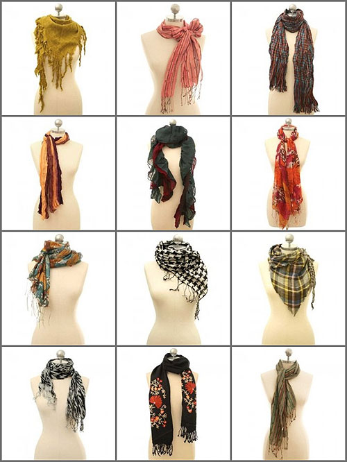 The Girly Tomboy Scarf Inspiration  How to Tie a Scarf Ways Tie Scarves Women