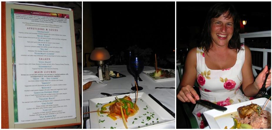 Abendessen im Sandals Ocho Rios, Jamaika