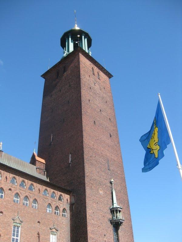 Turm des Stockholmer Rathauses