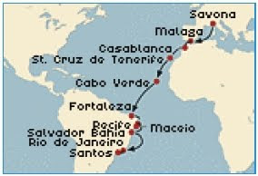 Transatlantik-Kreuzfahrt mit der Costa Fortuna 2010 ./. Foto: Costa