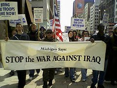 MECAWI Demonstration Held Against the Fifth Anniversary of the Iraq Occupation on March 15