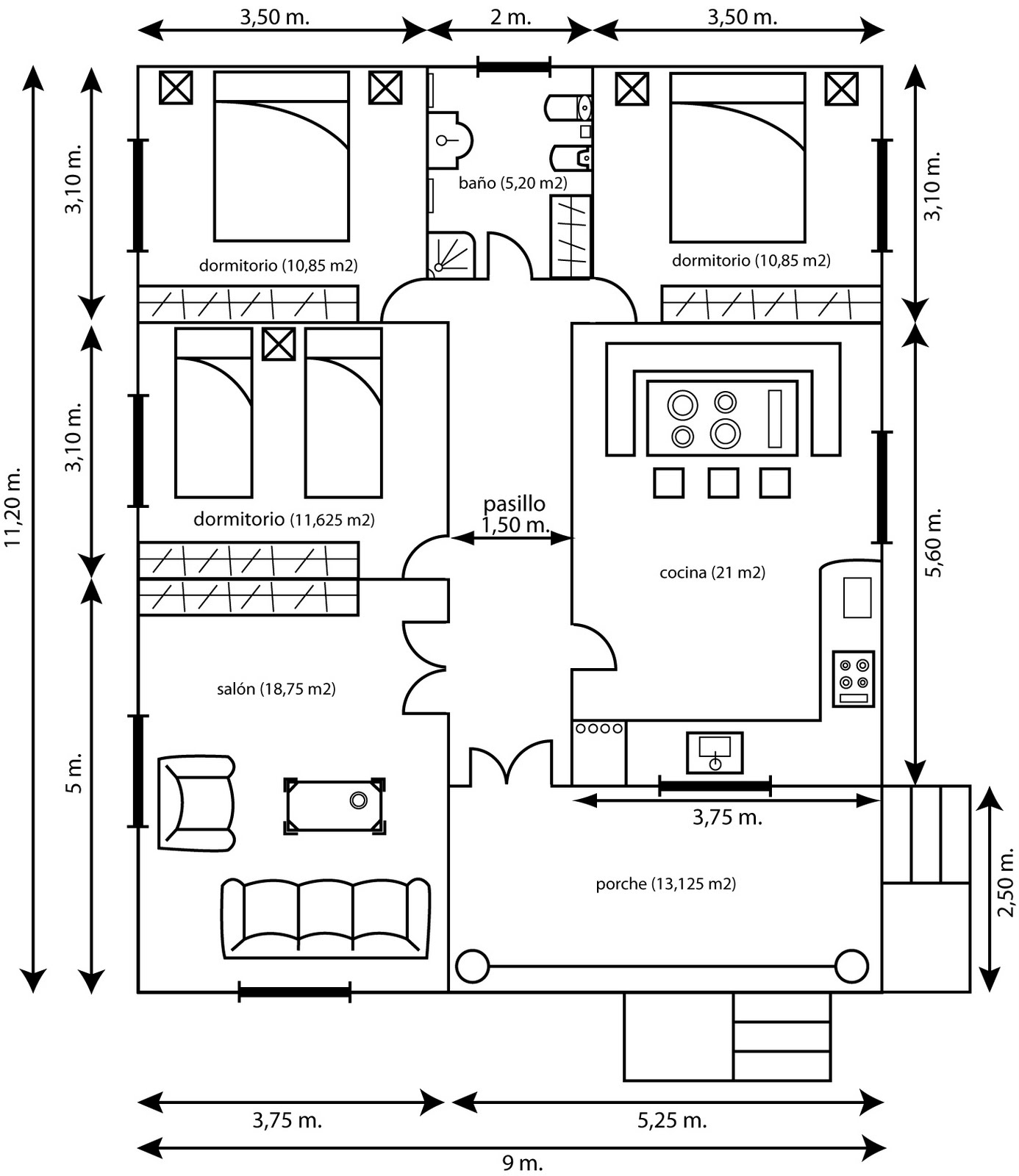 Como hacer planos para construir una casa diseno de for Como crear un plano de una casa