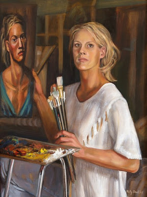 Nelly Drell, Self Portrait, Portraits of Painters, Fine arts