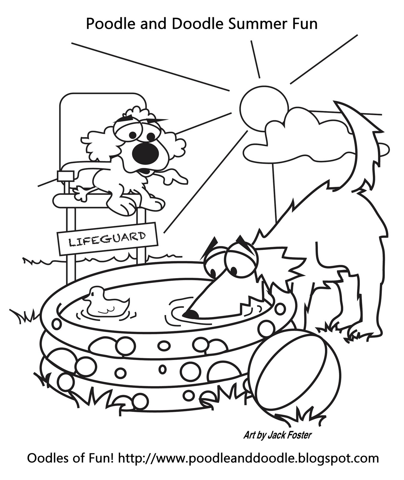Oodles of Fun: Oodles of Summer Fun - Coloring Page
