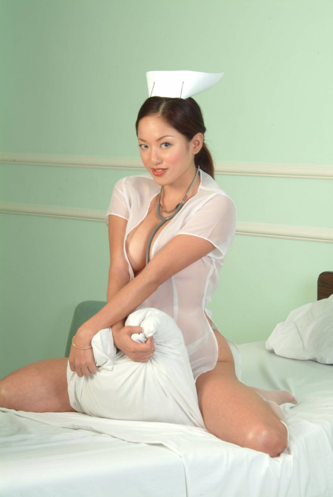 Hot Candy Girls Gwen Garci On A Nurse Outfit-9942