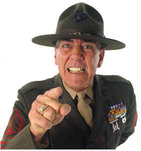 how do drill instructors get their voice