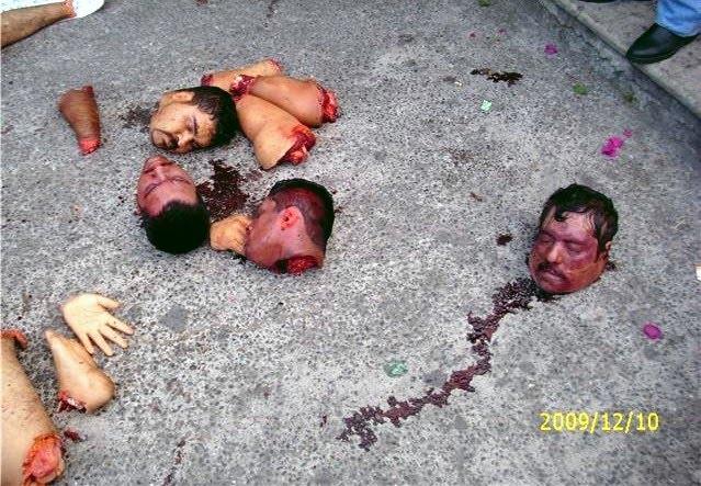 Killed, Cut off Heads