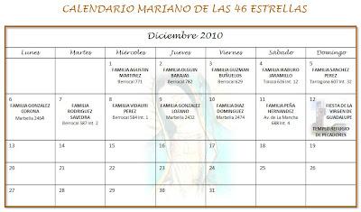 Calendario Mariano.Parroquia Nuestra Senora Del Refugio De Pecadores