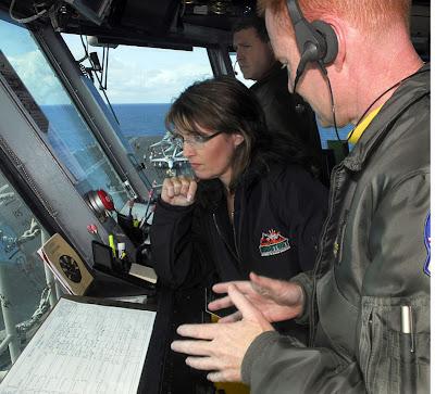 Palin aboard USS Stennis