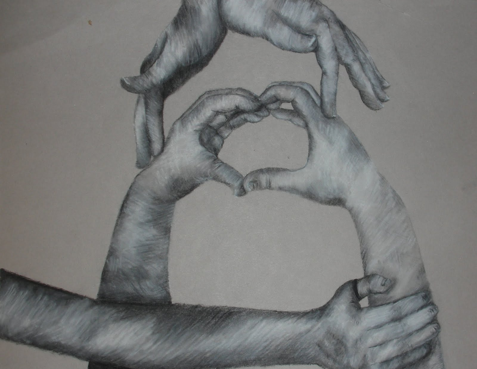 Art Adventures: Black and White Charcoal Hand Drawings