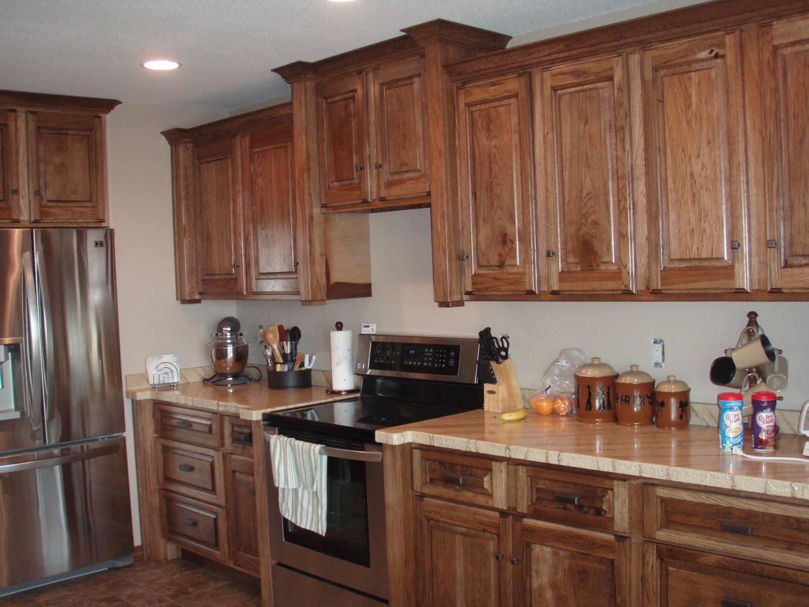 Backer S Woodworking Hickory Cabinets With Granicrete
