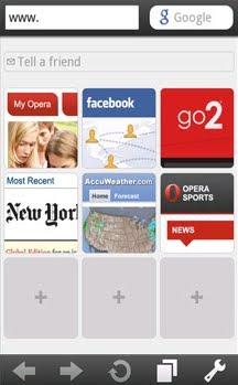 Samsung B7320: Opera Mini v5 1 21594