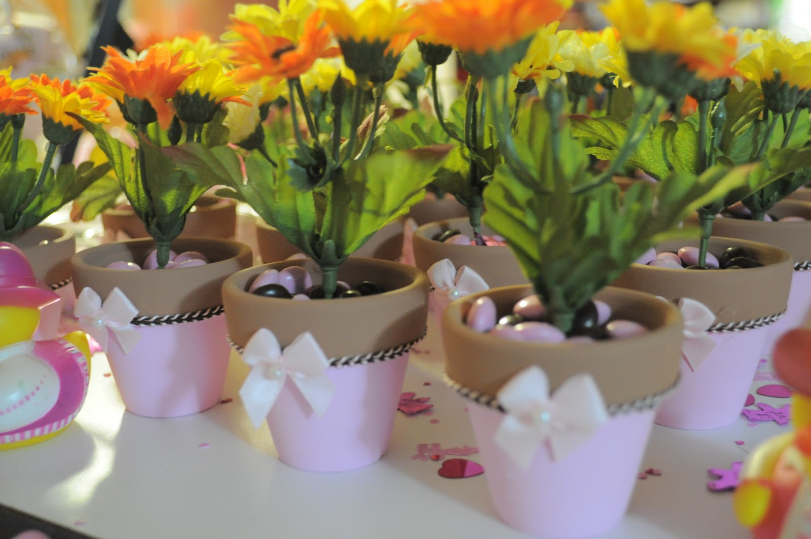 Little Bit Of Everything Baby Shower Mini Flower Pots