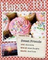 Premio con dolcetti e la scritta 'Dolci Amici' in inglese