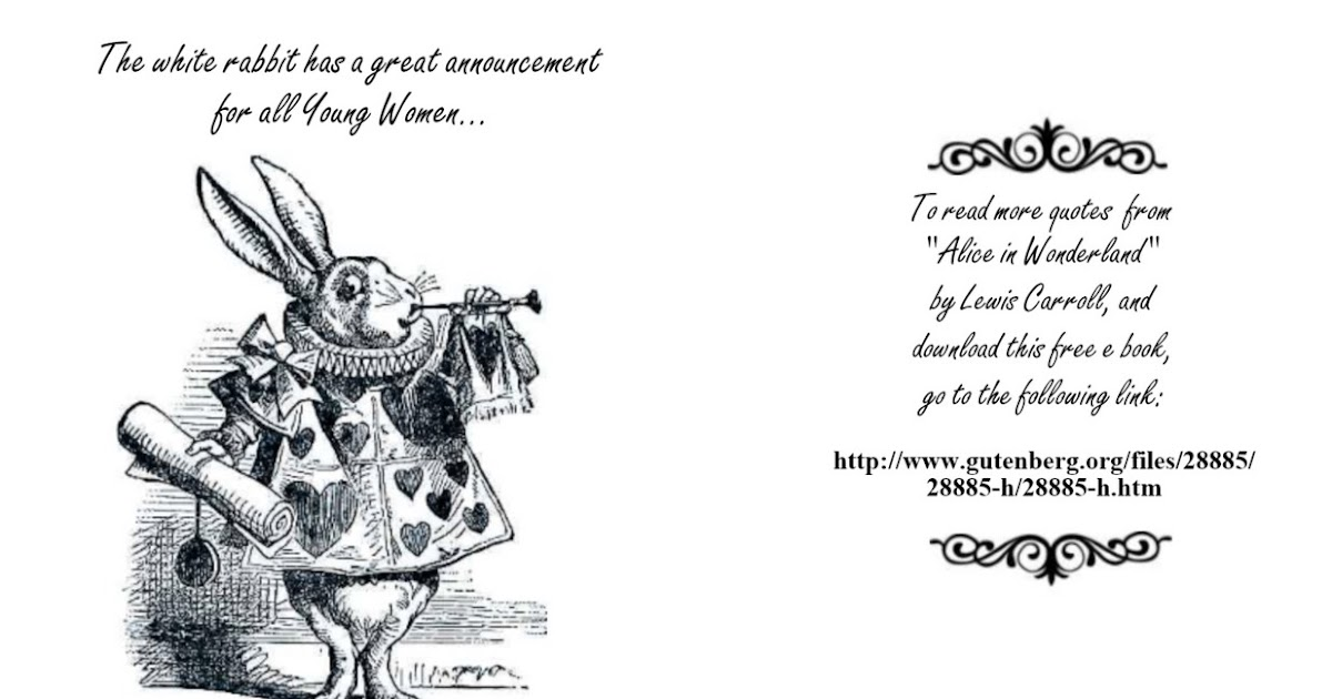Printable Invitations Alice Wonderland