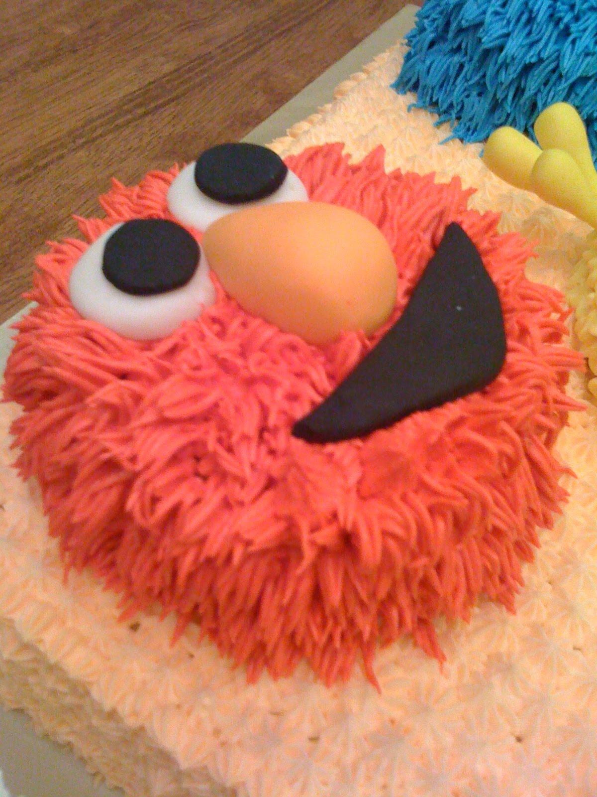 Cake Cupboard Sesame Street Cake Big Bird Elmo And