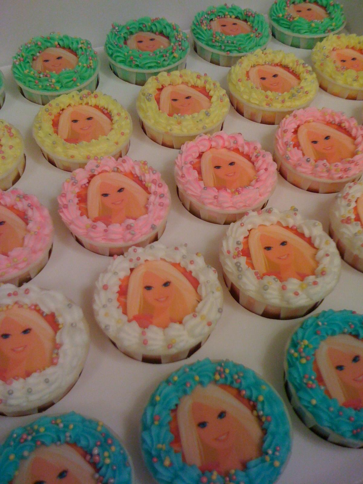 Cake Cupboard Barbie Cupcakes