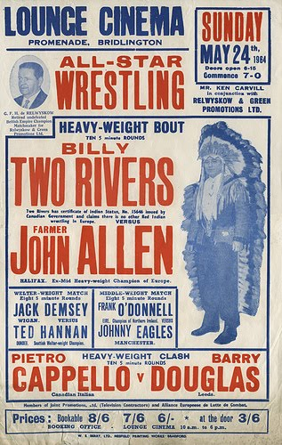 Old-School Professional Wrestling Event Posters; Listen, You Pencil-Necked Geeks!!