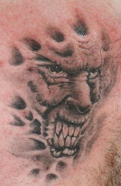 demon face tattoo - photo #49
