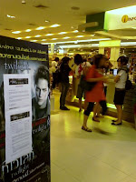 Twilight series out-of-stock notice at Asia Books