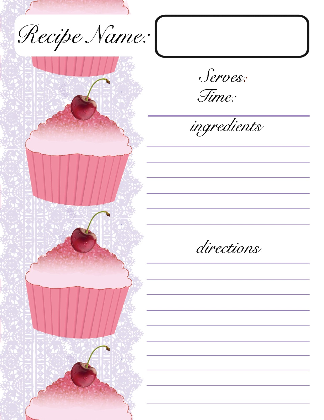 Templates For Recipes. go back gt gallery for gt recipe cards ...