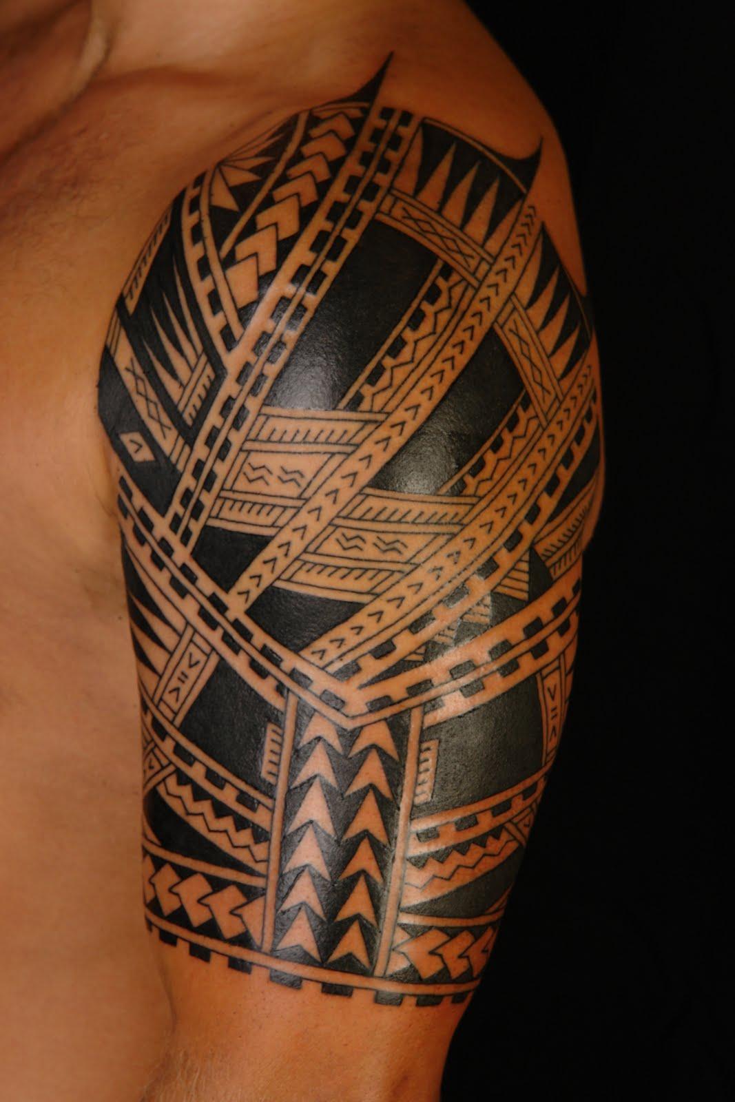 Samoan Tattoo: MAORI POLYNESIAN TATTOO: Polynesian/Samoan Half Sleeve