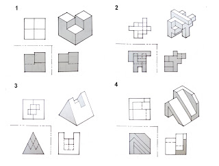 DrawingTech: ISOMETRIC DRAWING - (Exercise 1 - 4) - answers