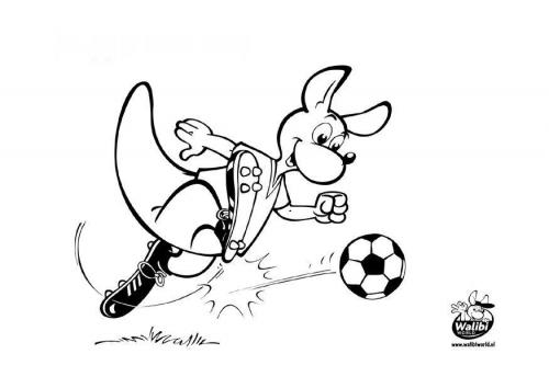 El Mejor Porter Para Colorear El Mejor Porter Para Imprimir: Banco De Fotos Gratis: Canguro Jugando Futbol Para Que