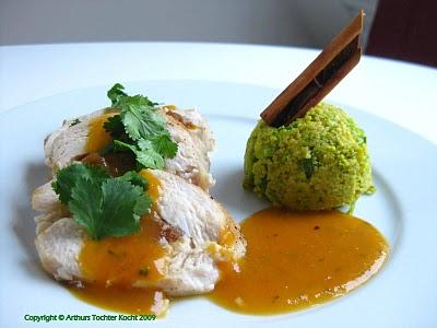 Hähnchenbrust gefüllt mit Aprikosen und Pistazien-Couscous  | Arthurs Tochter kocht von Astrid Paul. Der Blog für Food, Wine, Travel & Love