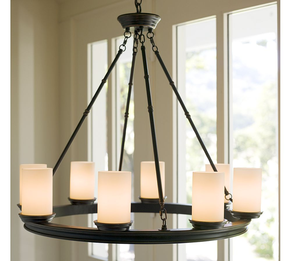 Pottery Barn Bronze Chandelier: Our Portland Foursquare: Copy Cat Chic: Veranda Round
