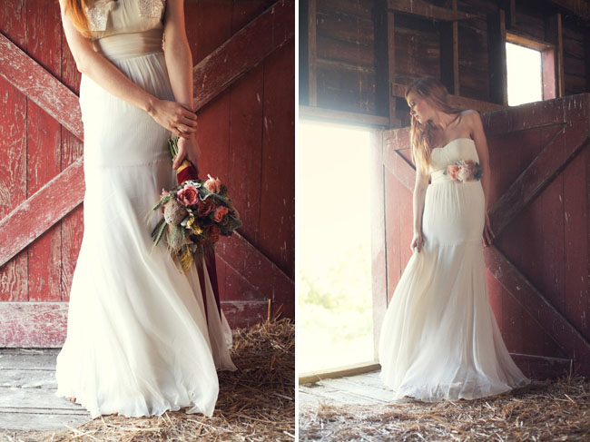 The Blue House: Barn Dust And Wedding Dresses