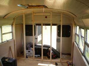 Day 30 Framing School Bus Conversion Good News Bus