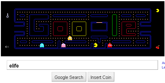 ELIfe: Happy Birthday Pac-Man, From Google
