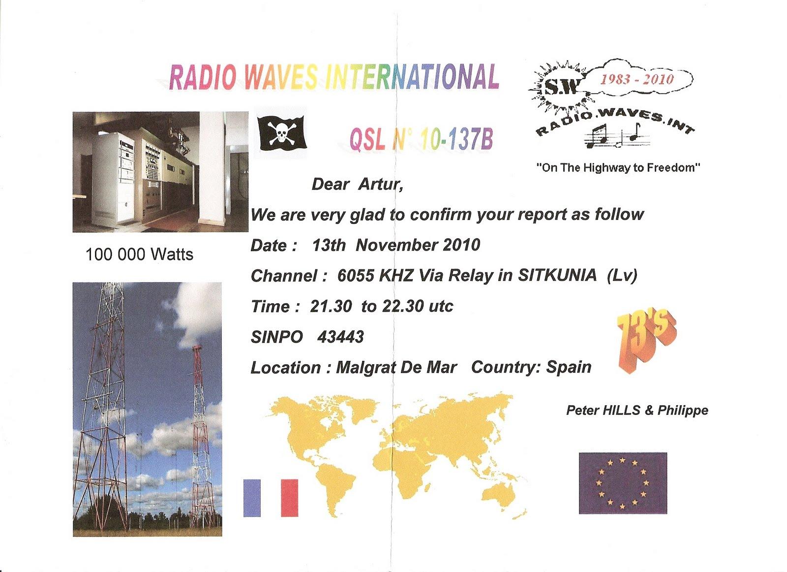 Radio Tidalwave qsl - myradiowaves.com